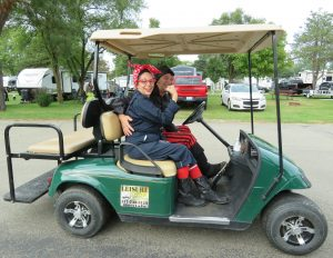 Leisure golf cart.