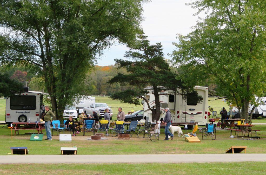 campers having fall fun
