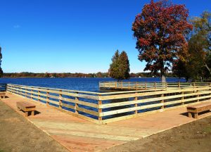 newly made fishing pier boardwalk