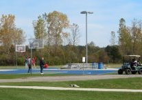 New surfaced basketball courts